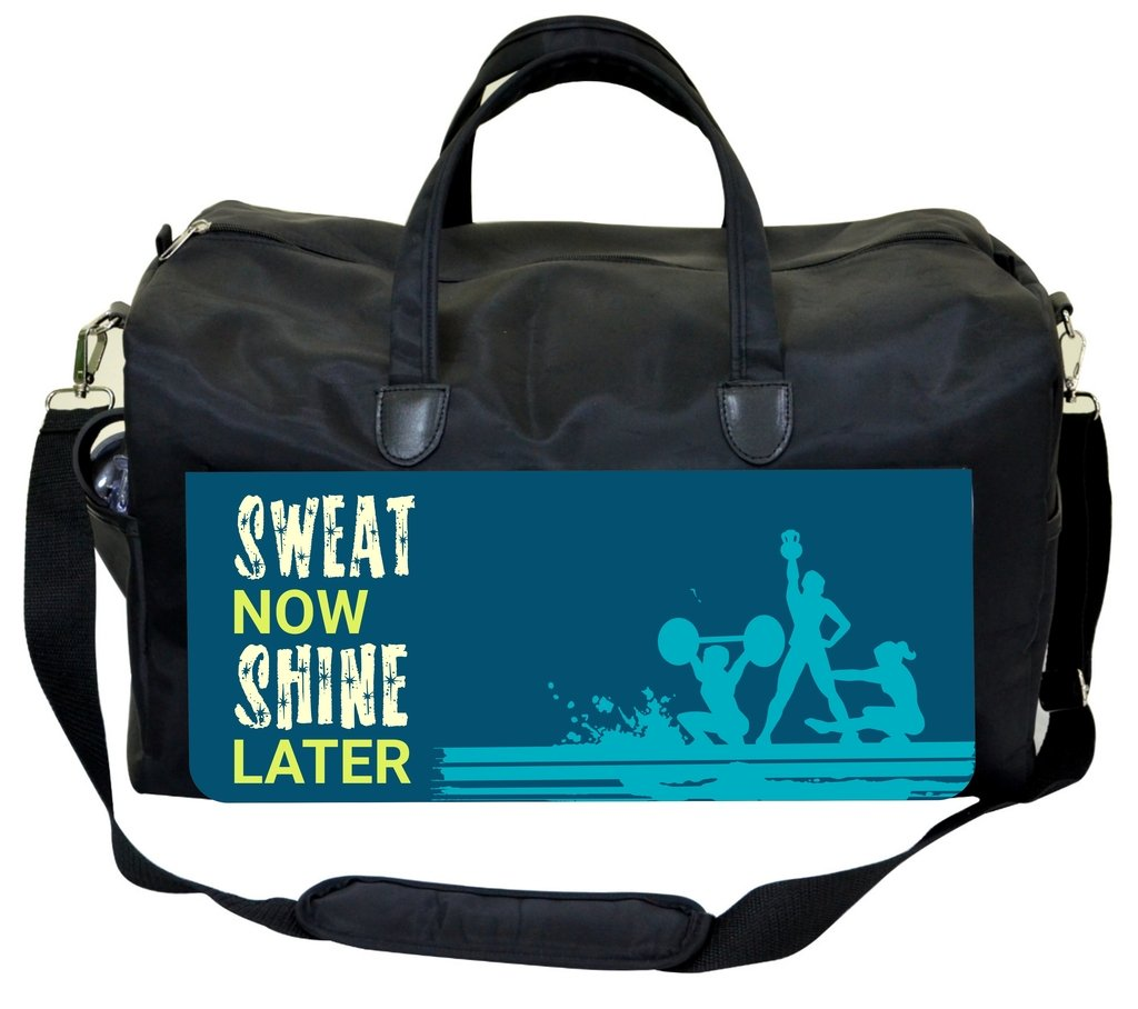 Sweat Now Shine Later-Blue Weekender Bag