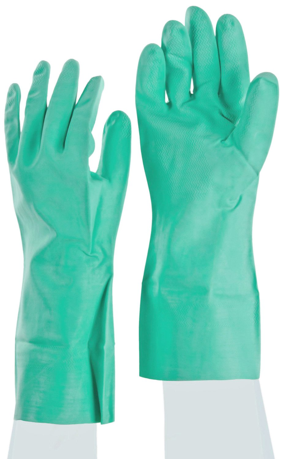 SHOWA NM15FL Flock-Lined Nitrile Glove, Chemical Resistant, 15 mils Thick, 13'' Length, XXL (Pack of 12 Pairs)