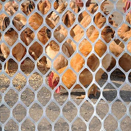 TORIS Plastic Chicken Wire Mesh Hexagonal Plastic Poultry Netting Extruded Plastic Chicken Wire Fence PVC Coated Plastic Poultry Netting (0.5X5m=1.6X16.4ft, White) by TORIS