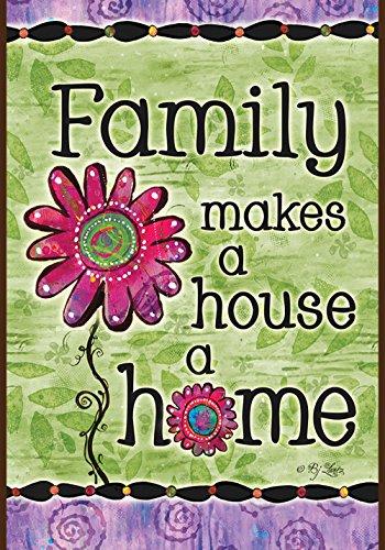 Toland Home Garden  Family Home 12.5 x 18-Inch Decorative (Family Garden)