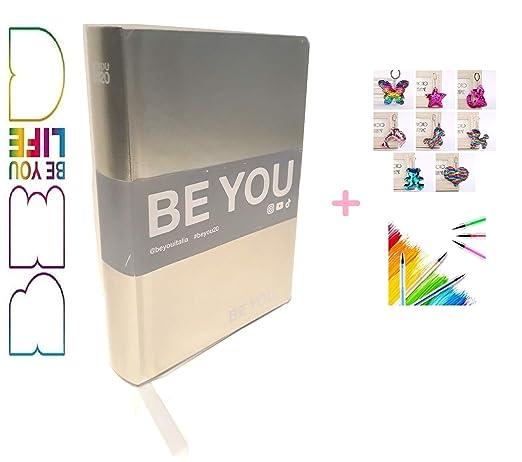 BE YOU Diario Agenda Scuola Color Rosa Metal Datato 2019//2020 12 Mesi 18x13 cm Penna Colorata Omaggio