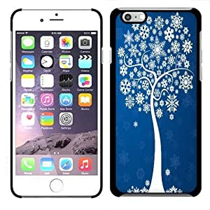 Fincibo (TM) Apple iPhone 6 4.7 inch Back Cover Slim Fit Hard Plastic Protector Case - Snowflakes Tree