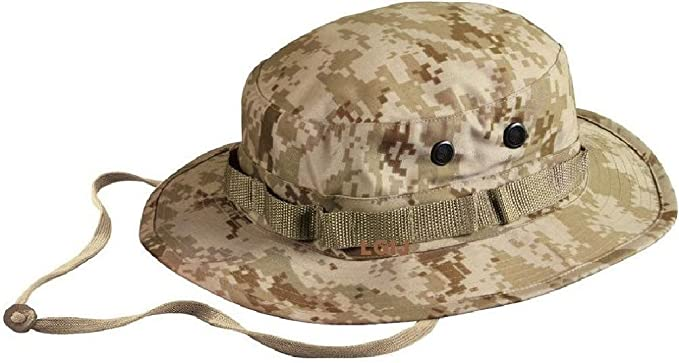 Amazon.com  Desert Digital Camo No Ega Usmc Military Style Boonie ... 1d84a2ae5