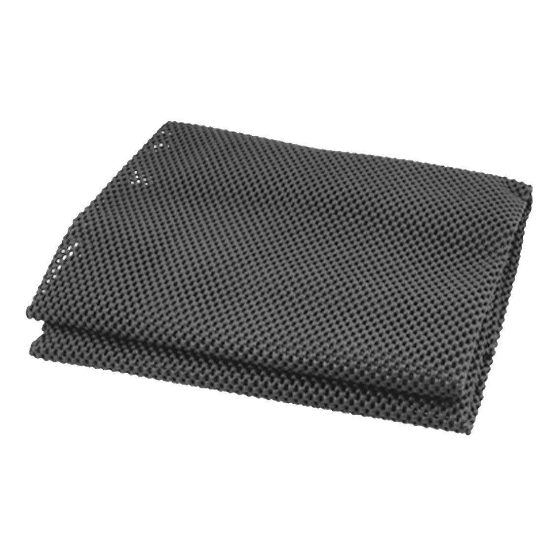 sourcingmap PVC Espuma Malla Esterilla Cubierta Antideslizante Negro 128cmx 30cm a15081000ux0096