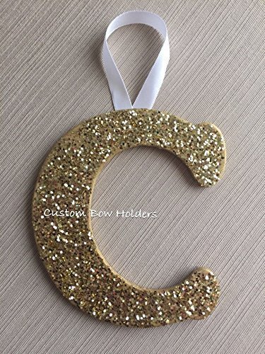 Christmas Ornament, Monogram Cheer Sparkle Letter - Any Letter Any - Monogram Ornament