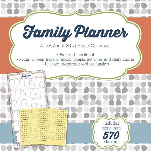 family planner wbonus sticker sheet 2015 2016 wall calendar trends international 9781438831312 amazoncom books