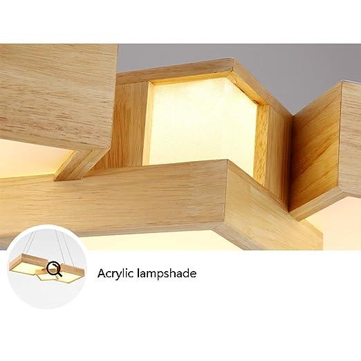 Amazon.com: Nordic Solid Wood Acrylic Chandelier ...