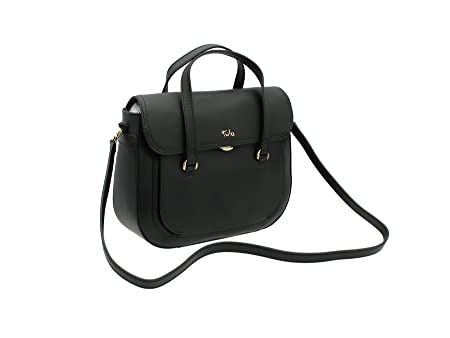 c41b55aab7 Tula BELLA Collection Leather Grab Shoulder Bag 8153 Black  Amazon ...