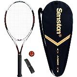 Senston 27 inch Tennis Racket Professional Tennis Racquet,Good Control Grip,Strung with Cover,Tennis Overgrip, Vibration…