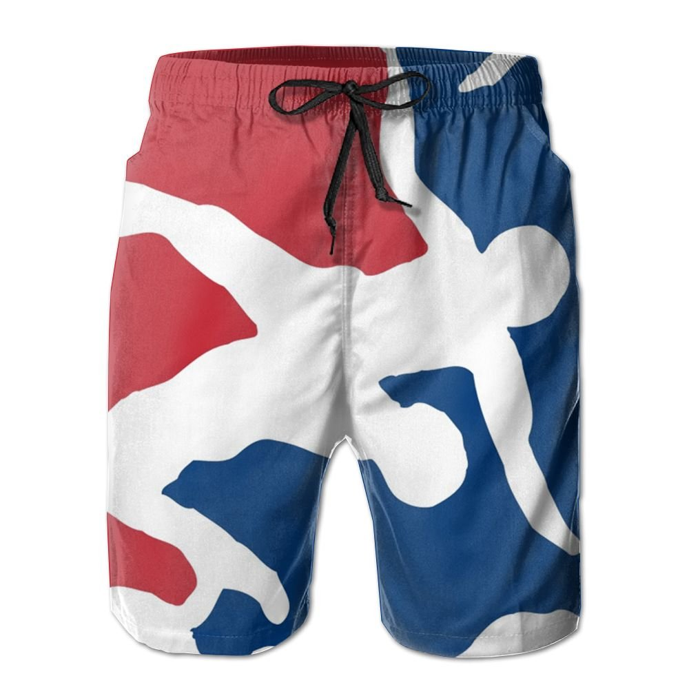 Oct USA Wrestling Logo with Liner Mens Boardshorts Swim Trunks Tropical Running Board Shorts Bathing Swim Trunks by Oct