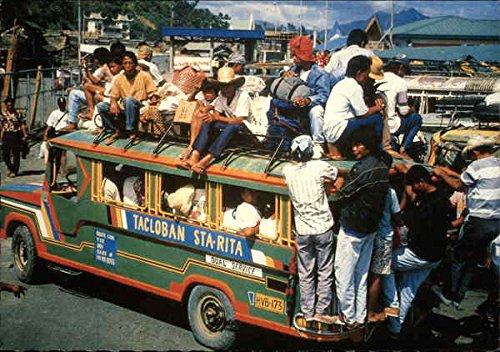 Overloaded Passenger Jeepney Tacloban Philippines Original Vintage