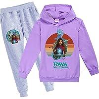 JIACHUN Raya and The Last Dragon Chándales para niños con capucha, conjunto de sudadera para niñas y pantalones…