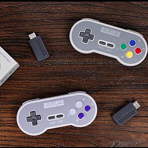 HIOTECH Wireless Controller 2.4GHz Wireless 8Bitdo SN30 Classic Video Game Joystick Gamepad for Super NES / SFC / SNES Classic Edition (Color)) by HIOTECH (Image #4)
