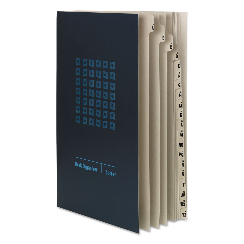 Smead Desk File/Sorter, Alphabetic (A-Z) and 1-20, 20 Dividers, Legal Size, Blue (89237)
