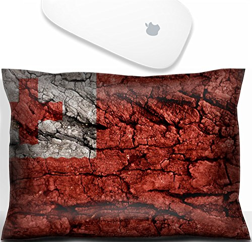(Luxlady Mouse Wrist Rest Office Decor Wrist Supporter Pillow Natural Rubber Mousepad. IMAGE: 31713973 tonga Flag rough texture)