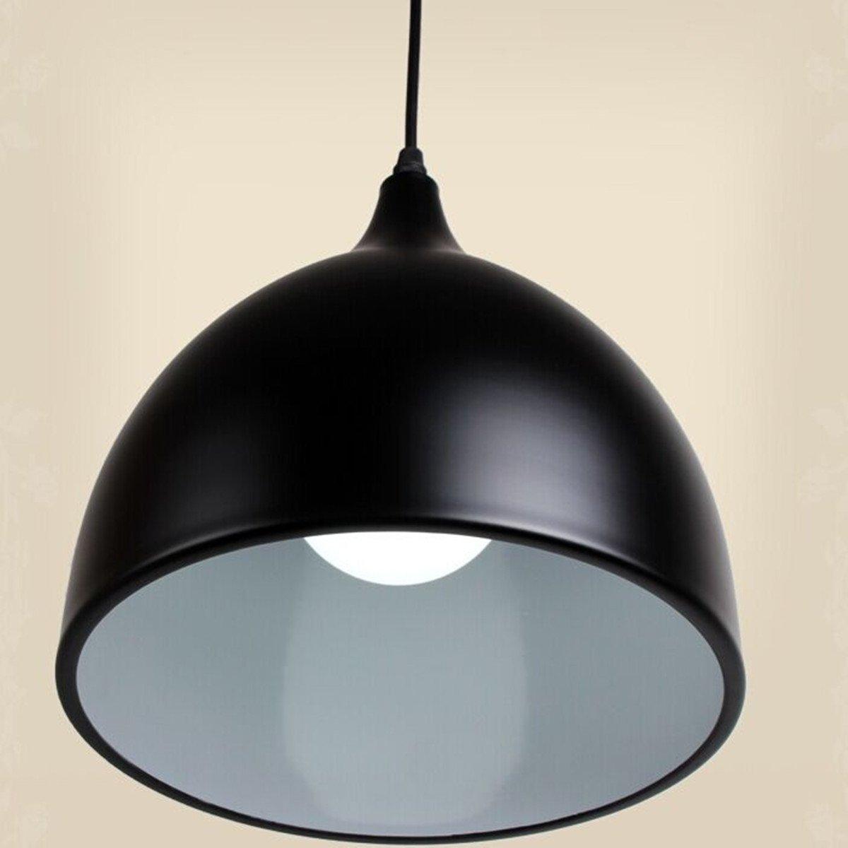 Lannmart 17cm Modern Vintage Single Head Pendant Light Cover Aluminum Pendants Lamp Shape for Restaurant Lamps Dining Room Decor