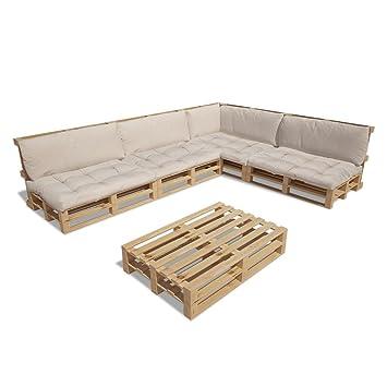 Amazon.de: vidaXL 15tlg. Holz Palettenmöbel Gartenmöbel Lounge ...