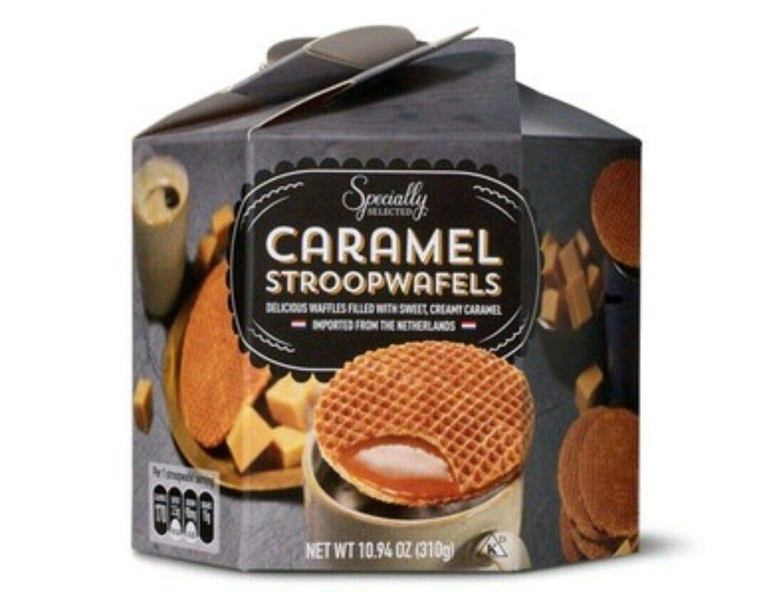 SPECIALLY SELECTED CARAMEL STROOPWAFELS Imported from the Netherlands