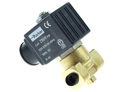 Parker ZB09 dos forma agua válvula solenoide ve-146 para máquinas de café 1120355