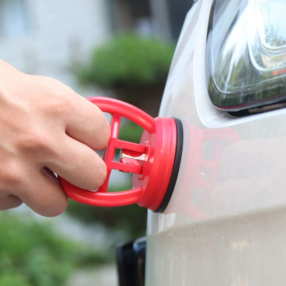 Sunsbell Mini Car Dent de Quitar Tensor Coche Body Dent Instrumentos de Quitar Potente Ventosa Car Kit de reparaci/ón de Cristal Metal Lifter Cuaderno /útil