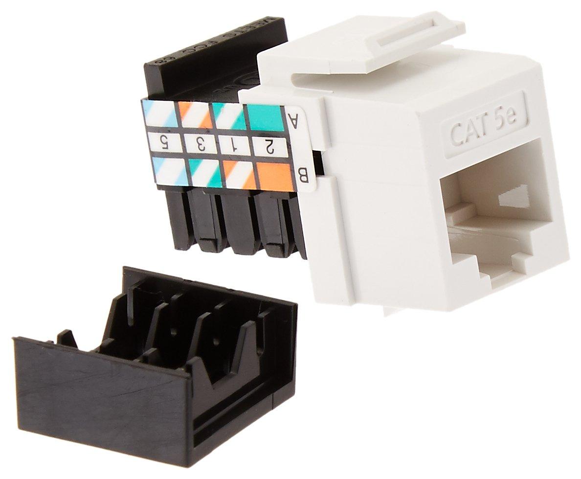 Cat 5E White Leviton Giga Max Quickport Connector