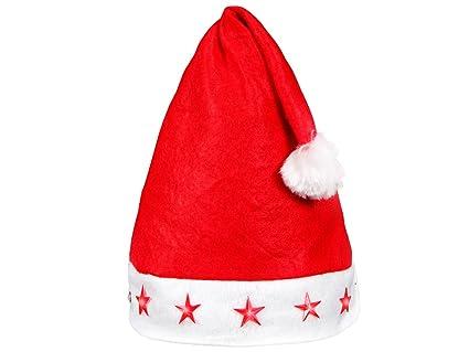 Cappello da Babbo Natale per Bambini a Luci LED rossi con Pon Pon (wm- ea7c298b29fb