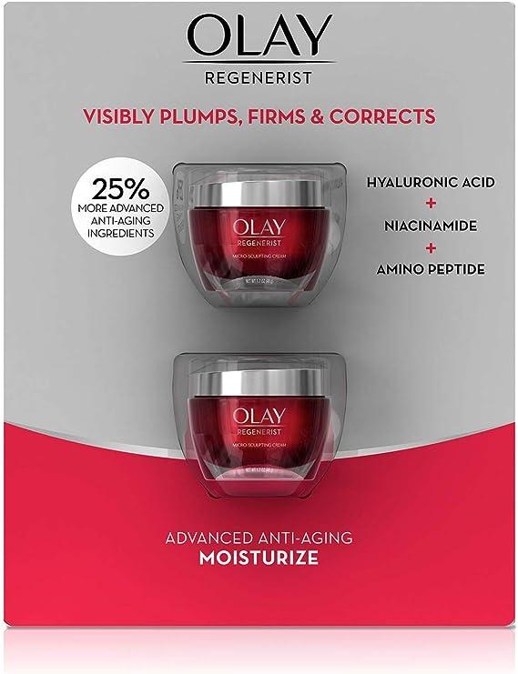 Olay Regenerist Micro-Sculpting Cream Fragrance Free 1.7 Oz (Pack ...