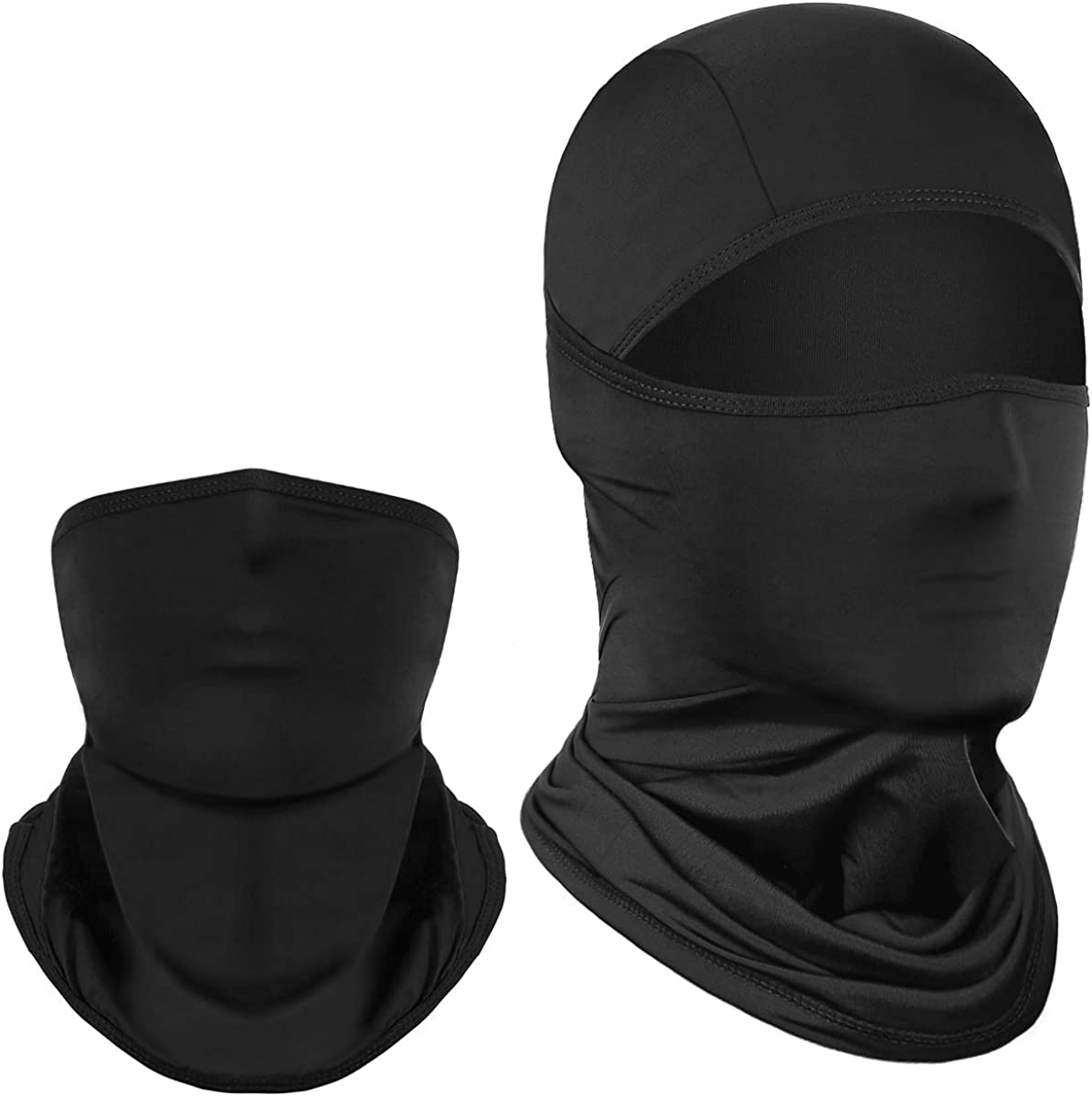 Achiou Summer Balaclava Face Mask UV Protection Cooling of Thin Ice Silk for Men Women Sun Hood Cycling, Climing, Running