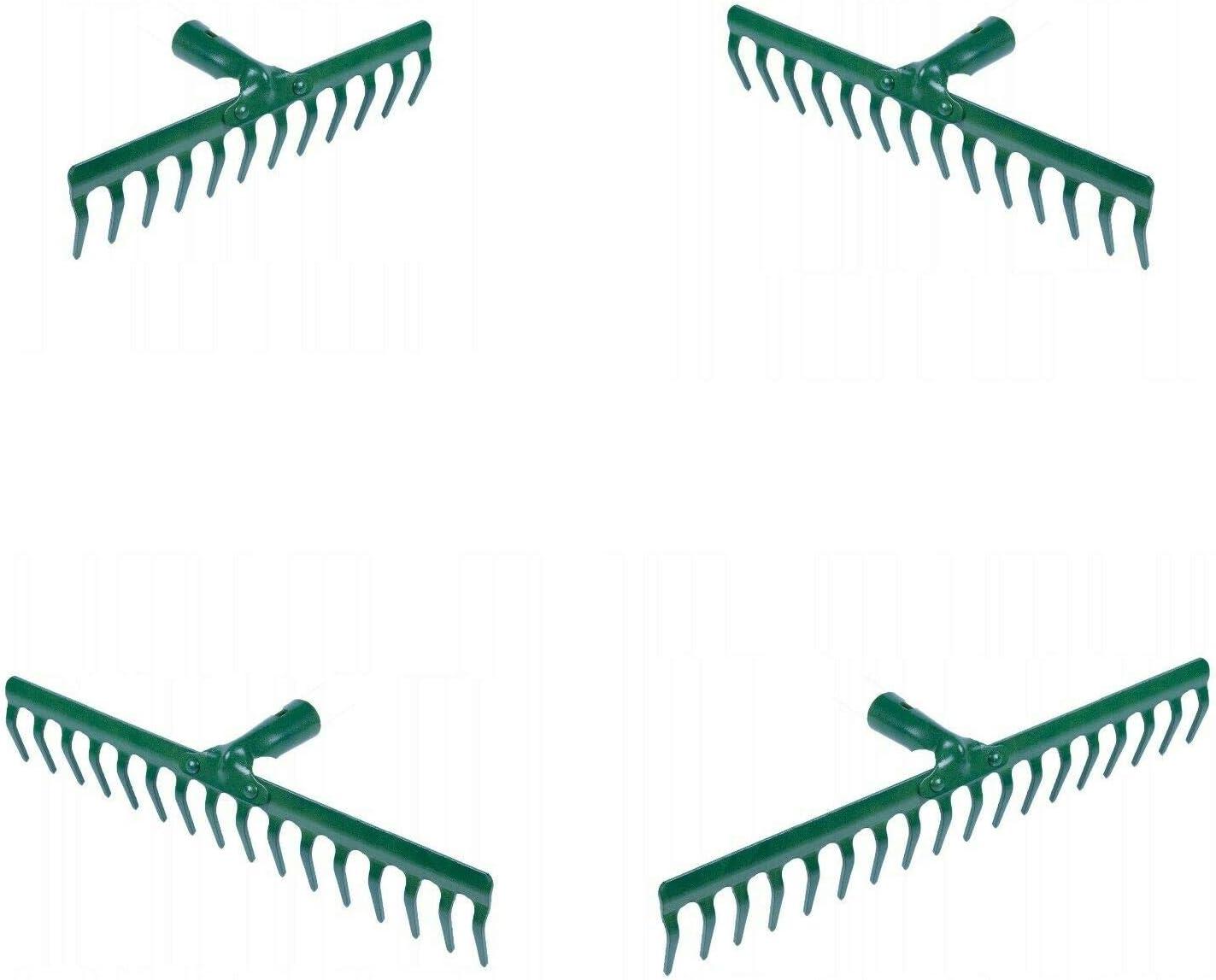 39 cm 14 Tooth Teeth Replacement Rake Head Garden Lawn Leaf Leaves Metal