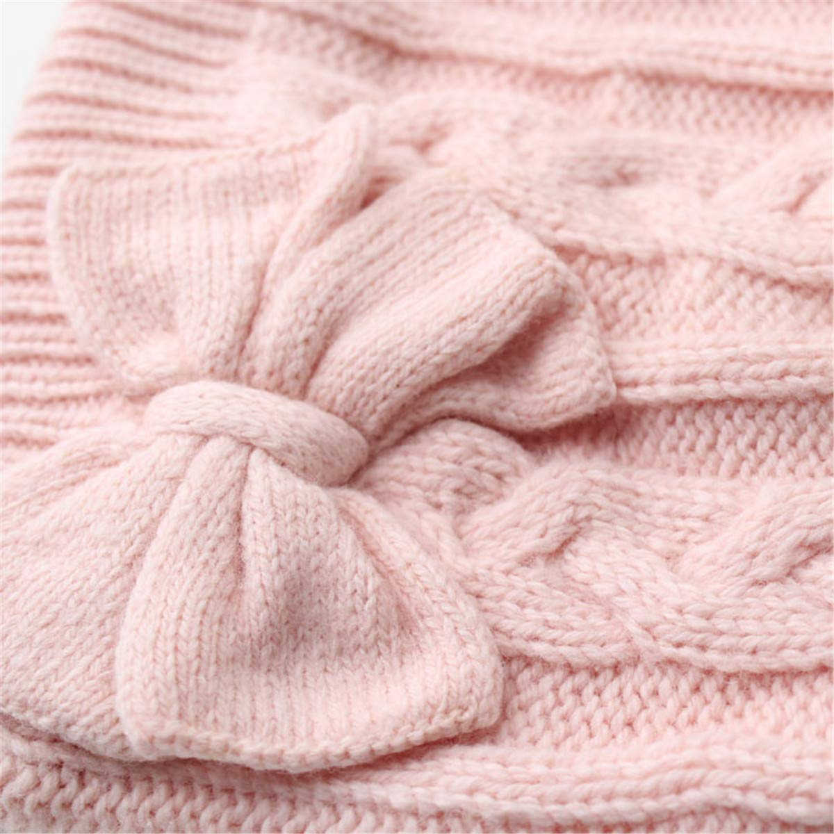 Ever Fairy Soft Warm Knitted Baby Hat Cute Cozy Chunky Bow Cotton Lined Infant to
