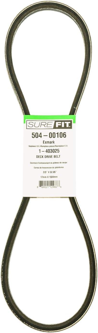 SureFit Deck Drive Belt Exmark 1-403025 Metro Viking Five Speed Walk Behind