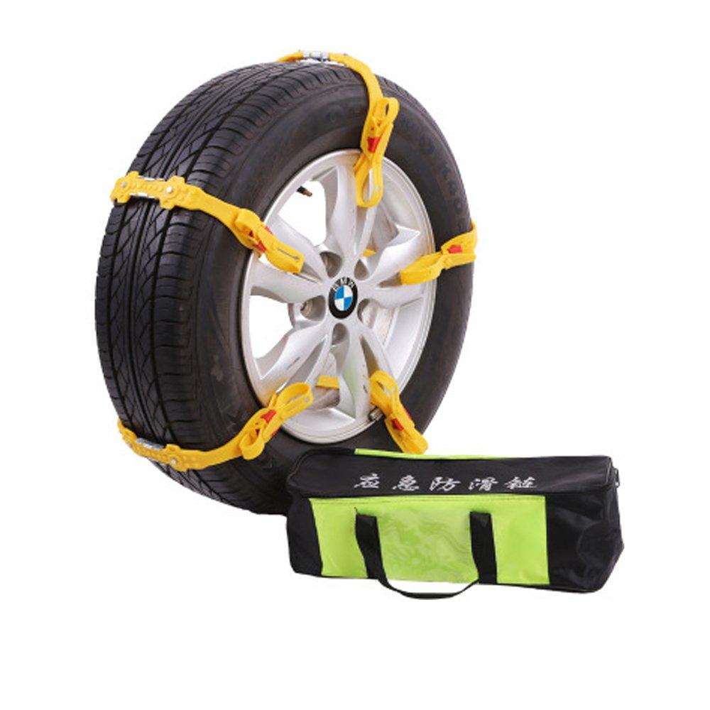 CHELIYA 簡易 タイヤ チェーン 10本 セット 2輪分 専用 ケース 付属 ソフト プラスチック 軽量凍結 スリップ 事故 悪路 汎用 簡単取付 (タイヤ幅 145mm ~ 285mm対応 ) B075WRS9YL