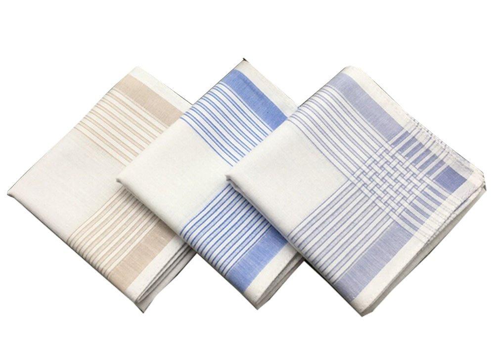 Liseaforu Gentlemen Classic Casual Cotton Handkerchief Soft Hankies