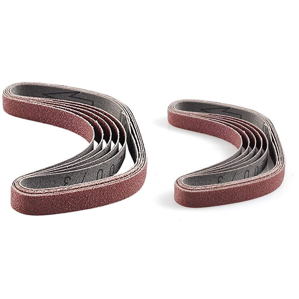 PROXXON Schleifbänder für BS//E Edelkorund K 180 No 28581 5 Stück