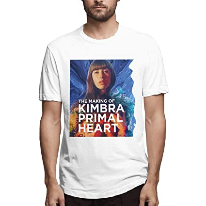 Linqarcon Women Design with Kimbra Primal Hearts Round Neck Short Sleeve Comfortable Crop Top Shirts