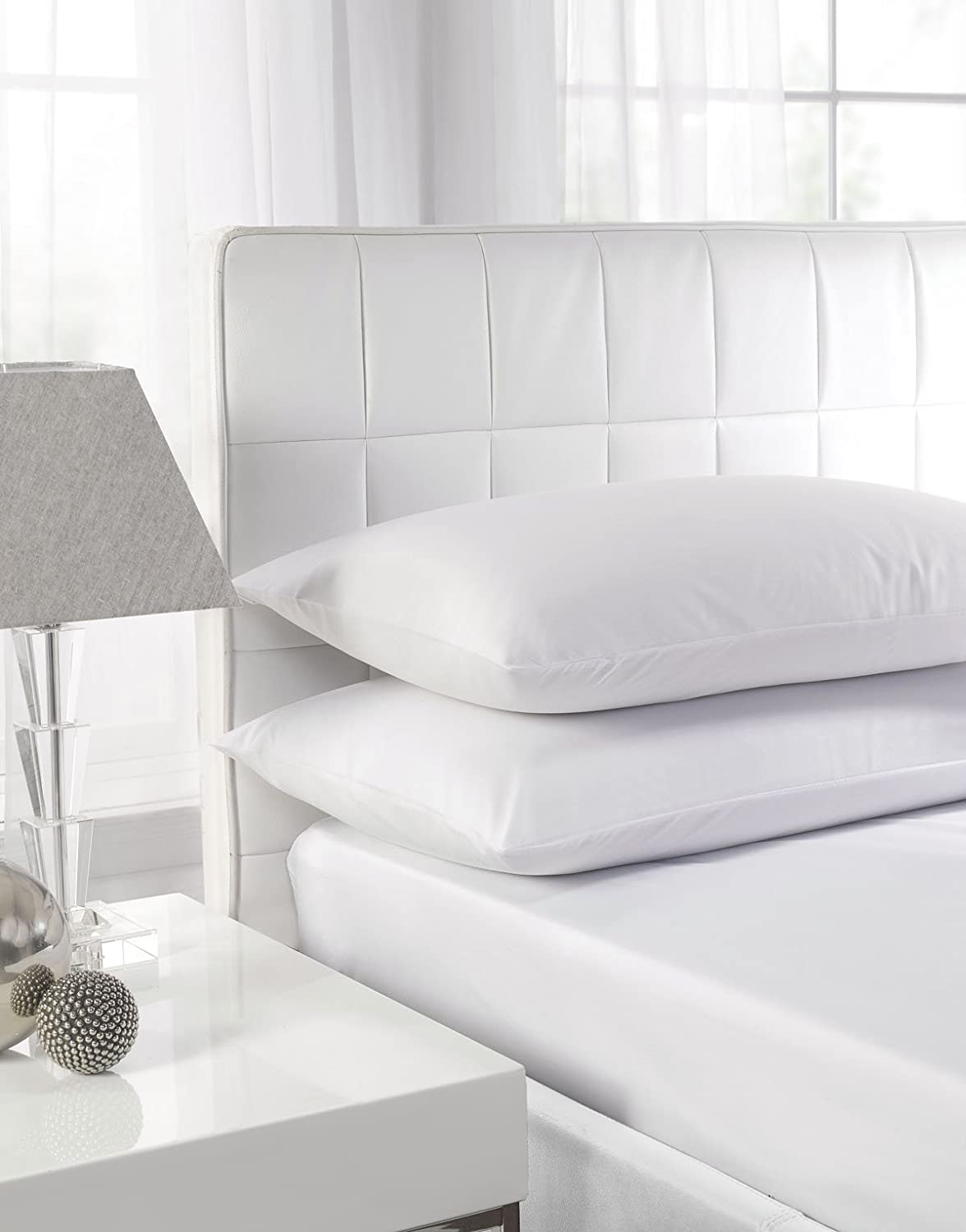 Easy Care Polycotton White Housewife (Standard) Pillowcase Pair by Textile Direct Textiles Direct
