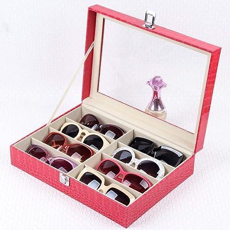/caja de almacenaje para gafas o gafas de sol vitrina de almacenamiento piel sint/ética 8/rejillas/ Rejillas de gafas de almacenaje Caja