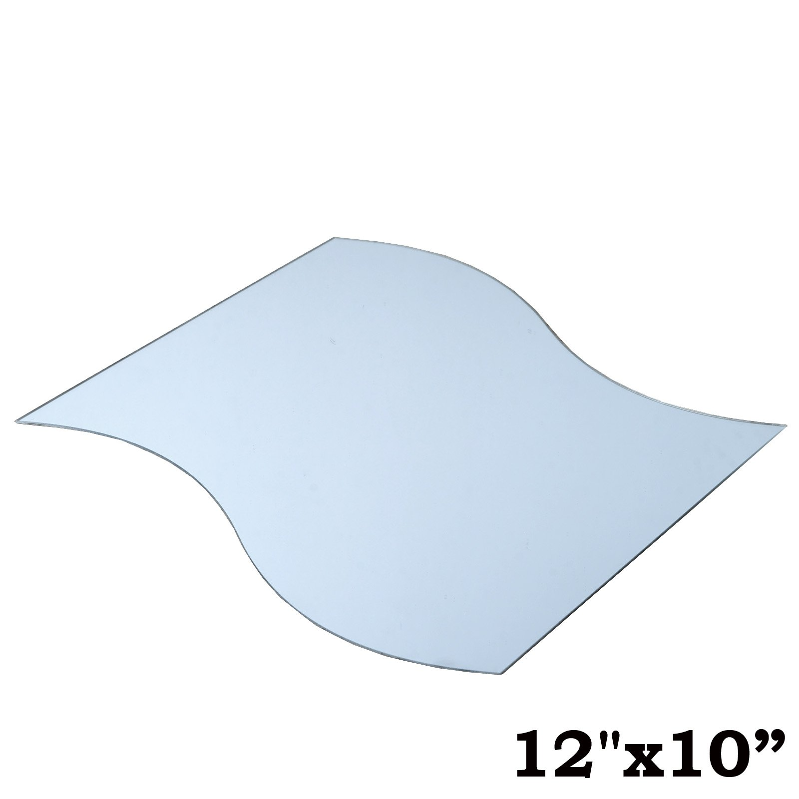 BalsaCircle 12 pcs 12-Inch x 10-Inch Wave Glass Mirrors for Wedding Party Favors Centerpieces Table Decorations Wholesale Supplies