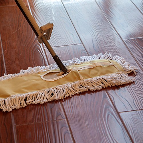 Shallylu 24'' Dust Mop Head, Dust Mop Refill Floor Mop Washable Cleaning Cotton Dust Mop for Hardwood Floor Clean, Office, Garage Care, Laminate, Tile Flooring, Home & Commercial Use by Shallylu (Image #6)