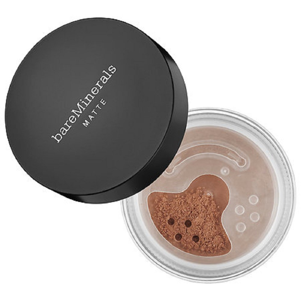 bareMinerals MATTE SPF 15 Foundation with Click, Lock, Go Sifter – Golden Dark