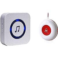 Noodoproepknop voor senioren/verpleging ouderen, paniekalarm/radiokalarm, zender en ontvanger, SOS-alarm, draadloos…