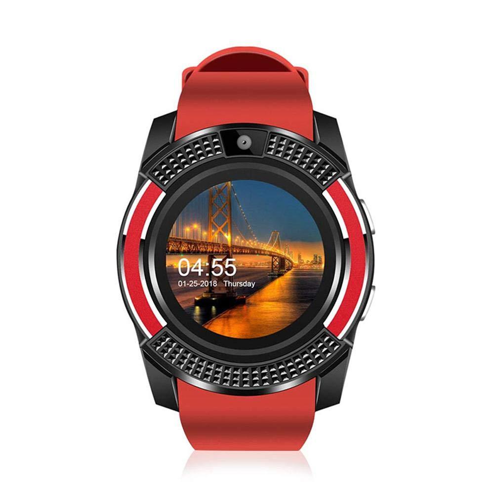 MOGOI Reloj Inteligente para Hombre, Reloj de Pulsera Bluetooth V8 Impermeable Fitness Tracker Reloj con Pantalla Táctil HD, Seguimiento de Actividad, ...