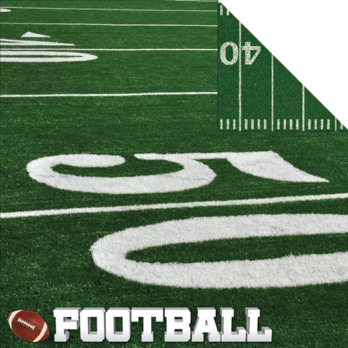Football Field Real Sports 12 Inch x 12 Inch Double-Sided Scrapbook Paper - 1 Sheet (RSS025)