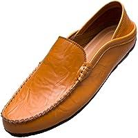 Unitysow Mocasines Hombres Zapatos de Vestir Casuales Holgazanes Slip On Verano Plano Cuero Zapatos de Conducción…