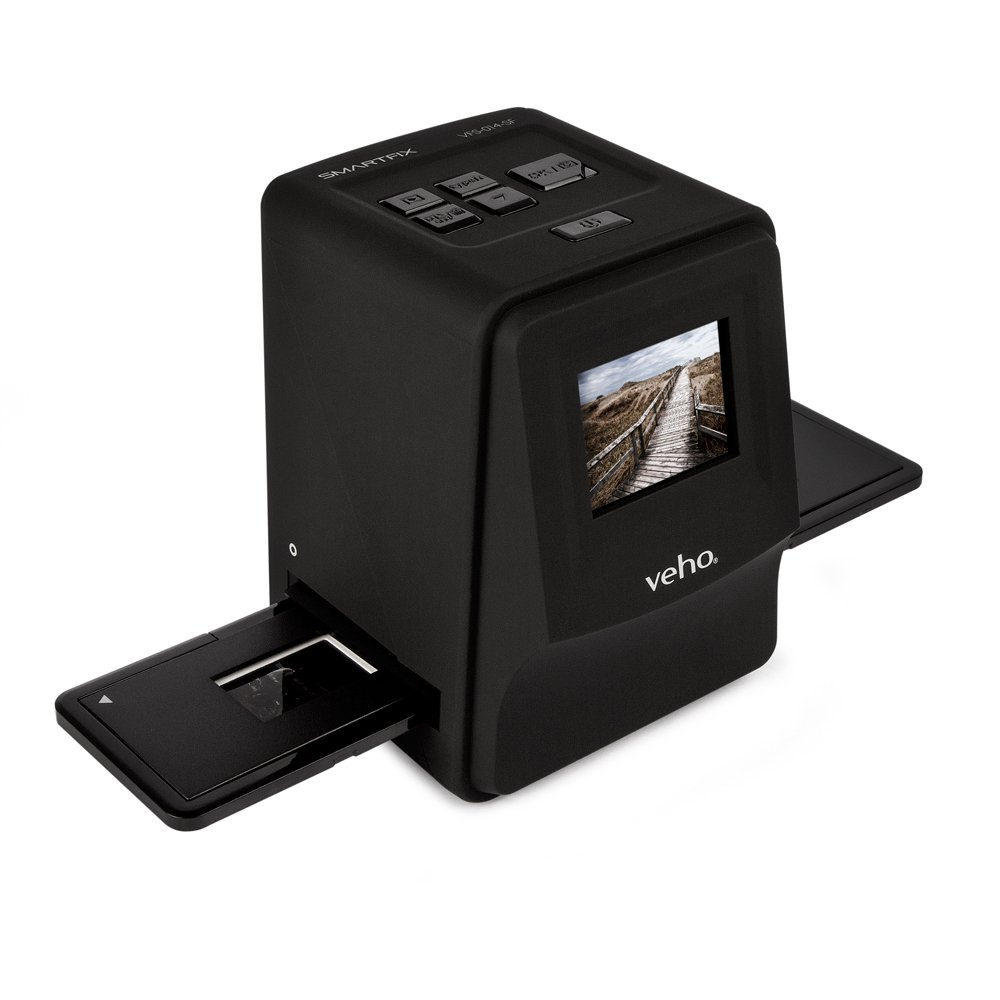 """Veho Smartfix Portable Stand Alone 14 Megapixel Negative Film & Slide Scanner with 2.4"""" Digital Screen and 135 Slider Tray for 135/110/126 Negatives Compatible with Mac/PC – Black (VFS-014-SF) by Veho (Image #3)"""
