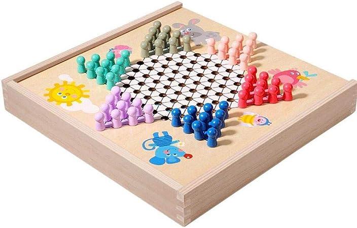 QqHAO Multifuncional Vuelo ajedrez, Damas, Backgammon, ajedrez, Lucha ajedrez Animal, Adulto Juegos de Mesa, Juguetes educativos para niños: Amazon.es: Hogar