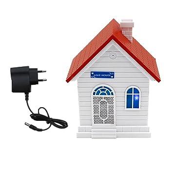 Homyl Control de Voz Caseta de Repelente de Ultrasonidos para Perro 1x Adaptador de Corriente Durable Resistente Intemperie: Amazon.es: Juguetes y juegos
