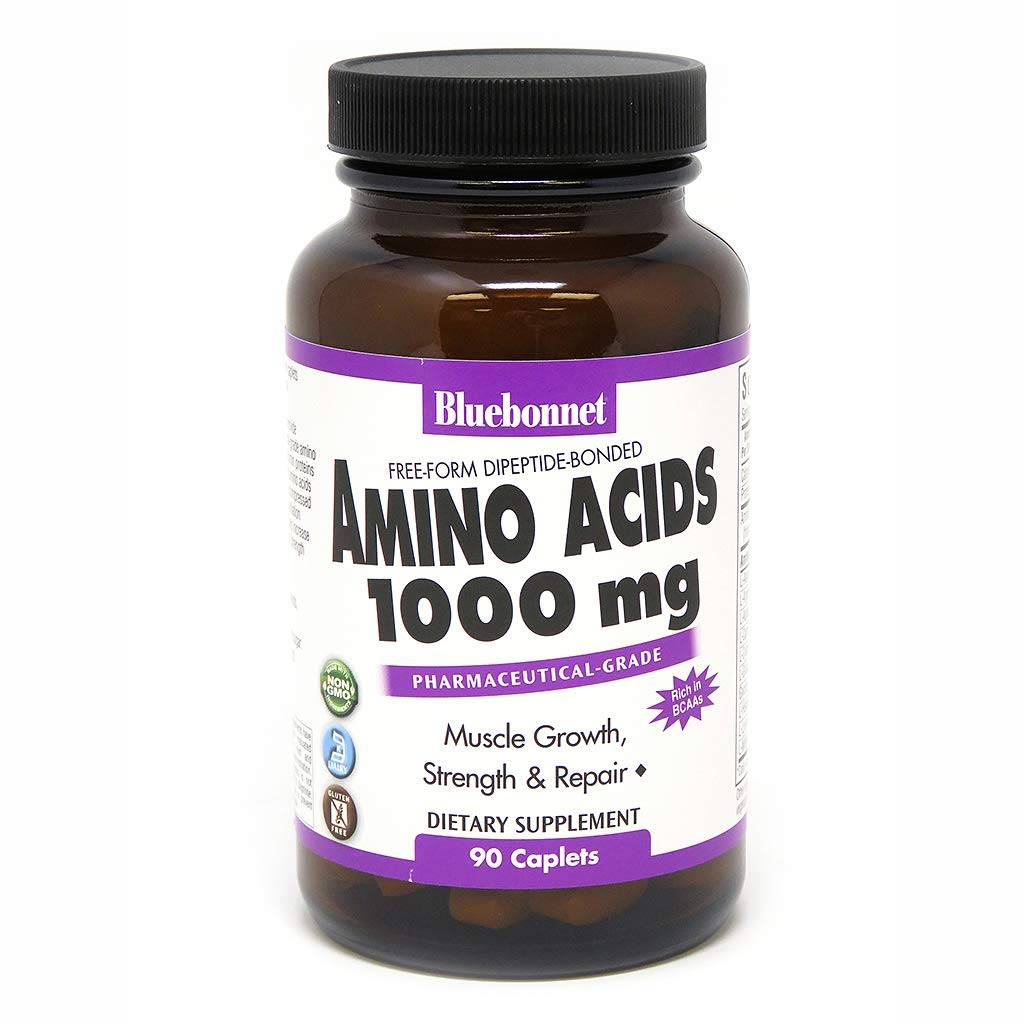 Bluebonnet Amino Acids 1000 mg Capsules, 90 Count