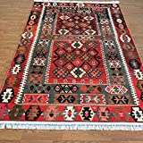 Bohemian Style Turkish Kilim Design Printed Area Rug for Living Dining Room Hallway Kitchen (7×10, ReyHan) Review