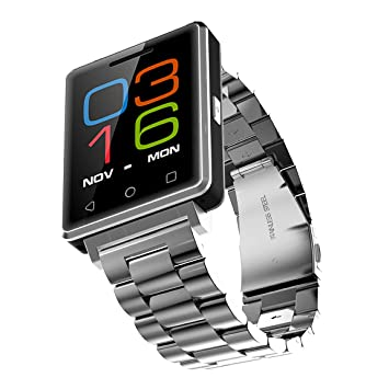 Smart Watch Teléfono Inteligente, Resistente Al Agua Bluetooth Reloj Inteligente con Pulsometro Integrado, Pulsera inteligente Smartwatch con Monitor de ...
